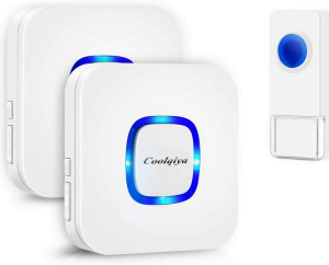 Coolqiya Wireless Doorbell With Multiple Receivers